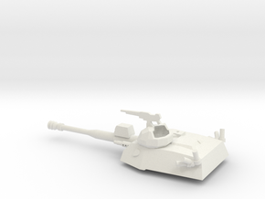 036L EE-9 Cascavel Turret 1/72 in White Natural Versatile Plastic