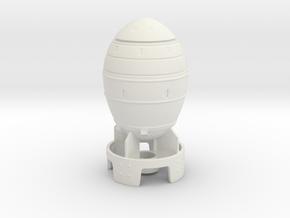 Mini Nuke 1:12 Scale in White Natural Versatile Plastic