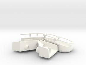 trxu07-01 Traxxas UDR Light Bucket Sprue in White Processed Versatile Plastic