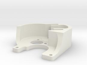 SCX24 Tiny Brushless Motor Plate in White Natural Versatile Plastic