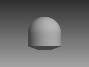 Tapered Satellite Dome 1/48 in Smooth Fine Detail Plastic