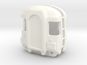 3mm Scale Class 123 Cab in White Processed Versatile Plastic