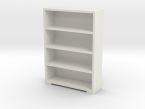Bookshelf 1/48 in White Natural Versatile Plastic
