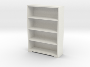 Bookshelf 1/24 in White Natural Versatile Plastic