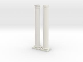 2 Doric Columns-- 6000mm at 4mm scale  in White Natural Versatile Plastic