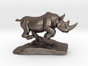 Rhino Gray 5'' Long in Polished Bronzed-Silver Steel