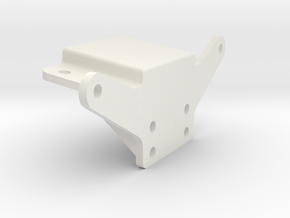 Schumacher cougar body and wing mount in White Natural Versatile Plastic