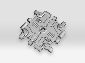 Cross Junction Connector 1 for Earthrise in White Processed Versatile Plastic