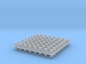 7W002b Cambrian Standard Wagon Buffers x16 (7mm) in Smooth Fine Detail Plastic