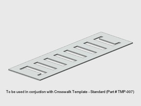 Crosswalk Template -School in White Natural Versatile Plastic: 1:87 - HO