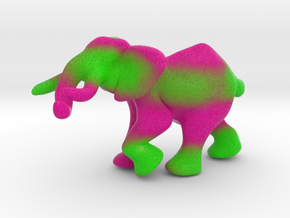 """Elephant 3"""" tall in Full Color Sandstone"""