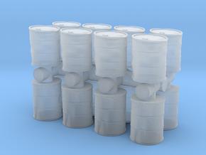 Damaged Oil Barrels (x16) 1/144 in Smooth Fine Detail Plastic