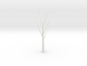 Tree Faceted - Clean in White Natural Versatile Plastic