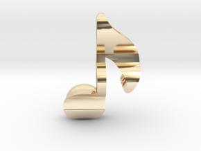 Treble Note Trinket in 14k Gold Plated Brass