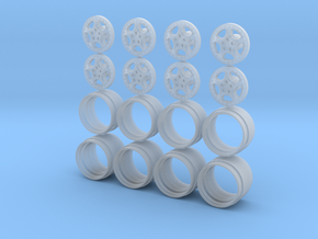 Pair of RH 2-Piece wheels for the RWB Casting in Smooth Fine Detail Plastic