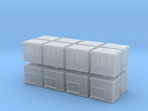 10 ft Office Container (x16) 1/400 in Smooth Fine Detail Plastic