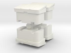 Large SOS Sand Bin (x4) 1/100 in White Natural Versatile Plastic