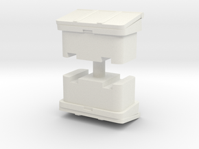 Large SOS Sand Bin (x2) 1/76 in White Natural Versatile Plastic