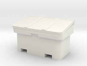 Large SOS Sand Bin 1/24 in White Natural Versatile Plastic