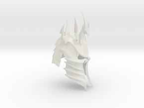 Lich King Helmet in White Natural Versatile Plastic