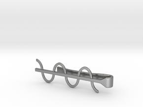Cosine Wave Tie Bar (Metals) in Natural Silver