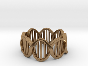 DNA Ring (Size 10) in Natural Brass