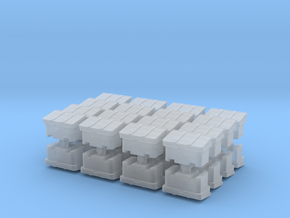 Large SOS Sand Bin (x32) 1/350 in Smooth Fine Detail Plastic