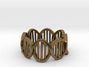 DNA Ring (Size 11) in Natural Bronze