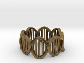 DNA Ring (Size 12) in Natural Bronze