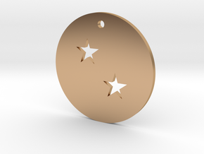 Two Star Dragon Ball Charm in Polished Bronze