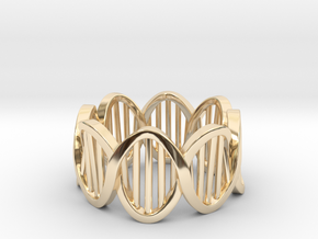 DNA Ring (Size 4) in 14K Yellow Gold