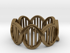 DNA Ring (Size 5) in Natural Bronze