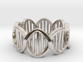 DNA Ring (Size 5) in Platinum