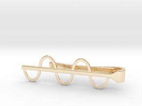 Sine Wave Tie Bar (Metals) in 14K Yellow Gold