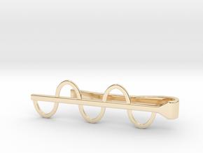 Sine Wave Tie Bar (Metals) in 14K Yellow Gold