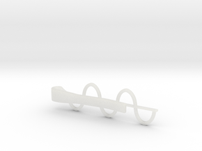 Sine Wave Tie Bar (Plastics) in Smooth Fine Detail Plastic