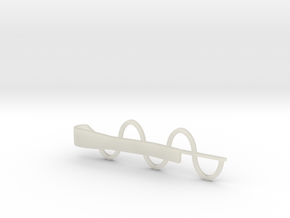 Sine Wave Tie Bar (Plastics) in White Natural Versatile Plastic