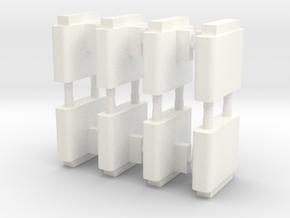 N Gauge Ticket Barriers in White Processed Versatile Plastic