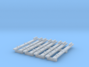 PTC equipment outer rails HO scale x4 in Smoothest Fine Detail Plastic