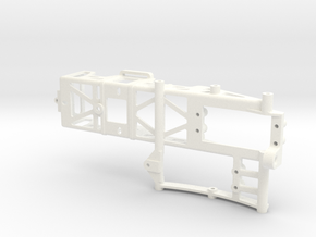 AS2001-01 Axial SCX10 II Battery & Winch Bulkhead in White Processed Versatile Plastic