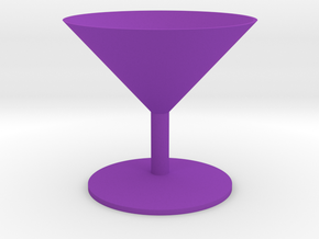 Martini Glass in Purple Processed Versatile Plastic
