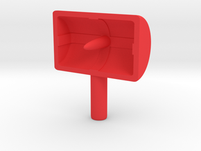Black Tiger Radar in Red Processed Versatile Plastic