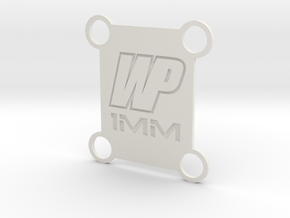 TLR 22 rear tower spacer 1mm (fits 4.0 and 5.0) in White Natural Versatile Plastic