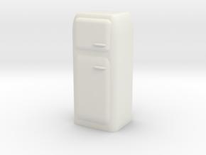 Vintage Fridge 1/48 in White Natural Versatile Plastic