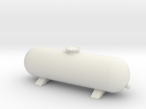LPG Gas Tank 1/43 in White Natural Versatile Plastic