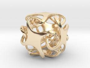 Hexatron Pendant in 14K Yellow Gold