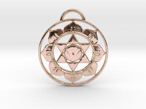 Goddess Tara Tantra Pendant in 14k Rose Gold