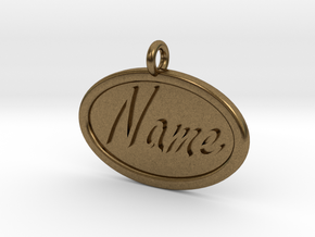 Oval Pet Tag / Pendant in Natural Bronze