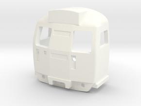 OO Scale Class 304/5/8 Cab in White Processed Versatile Plastic