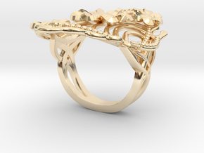 Art Deco Spring in 14k Gold Plated Brass: 6 / 51.5